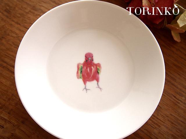 セキセイインコ ピンク(ワキワキ) お皿 中サイズ