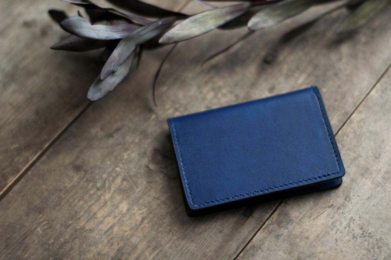 藍染革[migaki] キャッシュレスカードケース