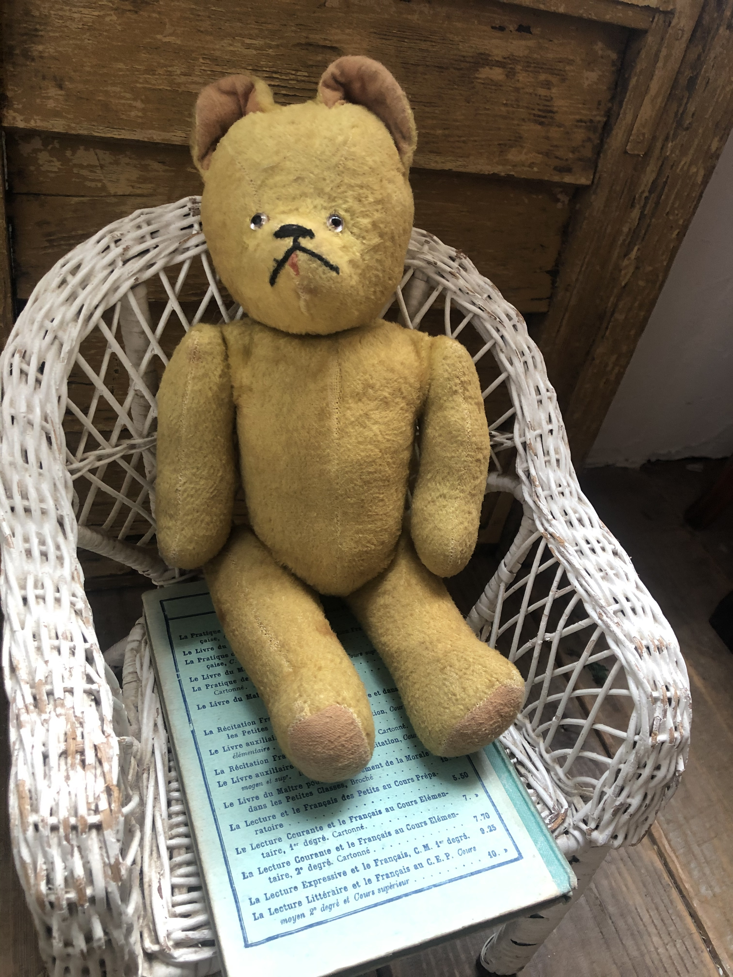 フランス イエローベージュくまのお人形