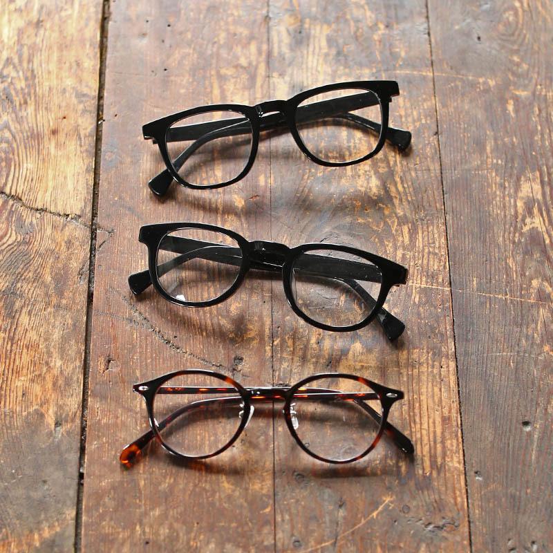サロンワーク用 手元グラス(老眼鏡) ウェリントン ブラック