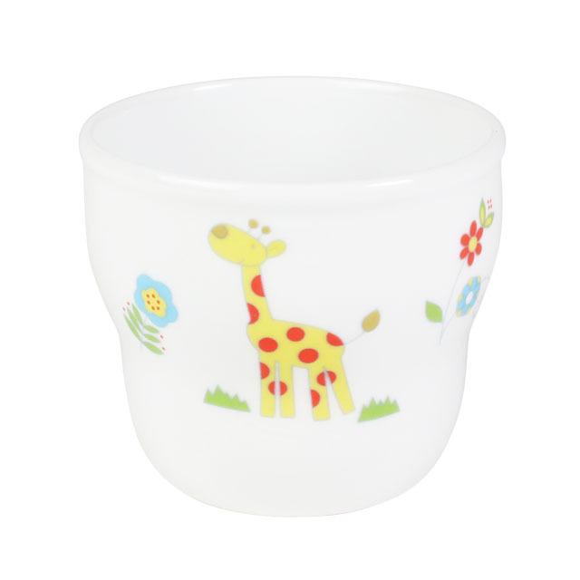 【1986-1250】強化磁器 持ちやすい乳児用カップ(Φ7cm×H6cm/満水150ml)  さふぁり