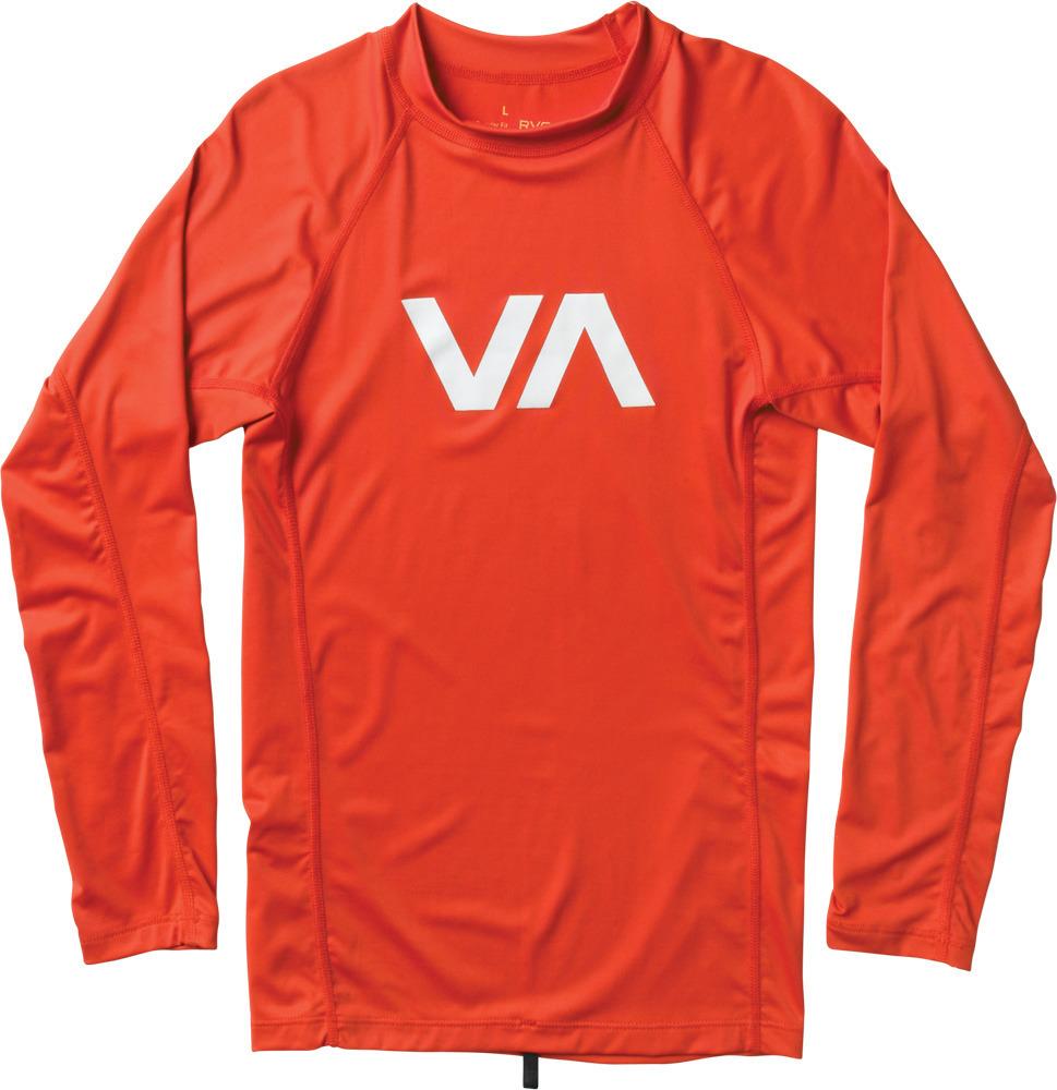 RVCA VA Rashguard ルーカ VA ラッシュガード ライトレッド(長袖)
