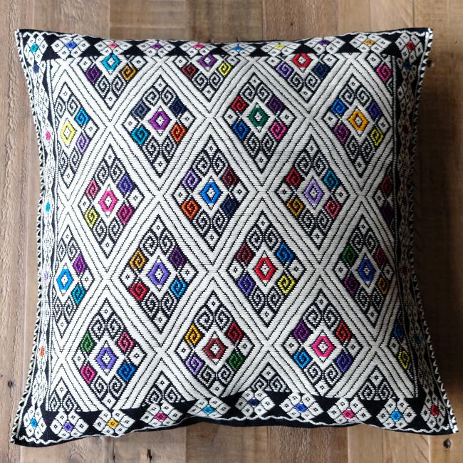 ララインサール村の手織りクッションカバー /215g/ MEXICO メキシコ
