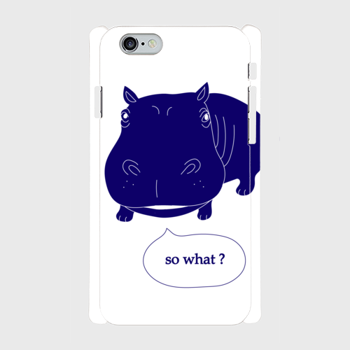 iPhone6/6sスマホケース☆so what×blue☆ 側表面印刷ツヤ有り(コート)