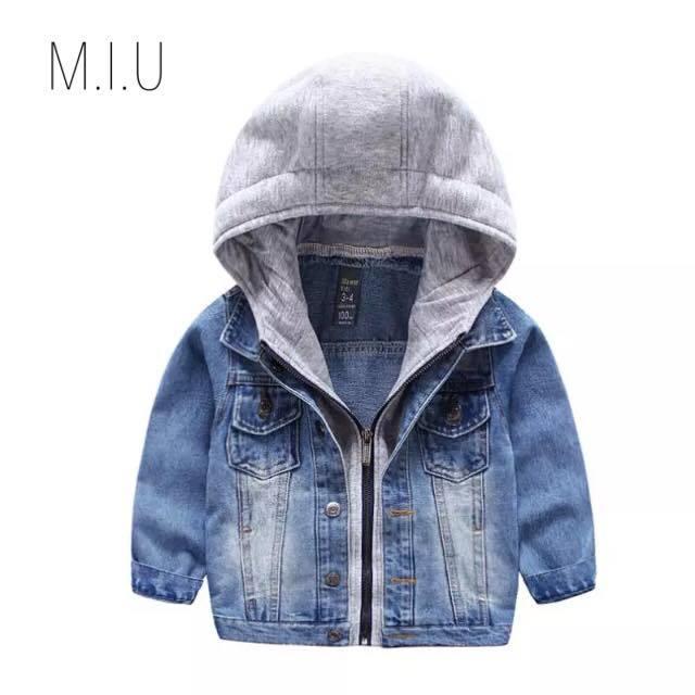 フード付きデニムジャケット #MIU591