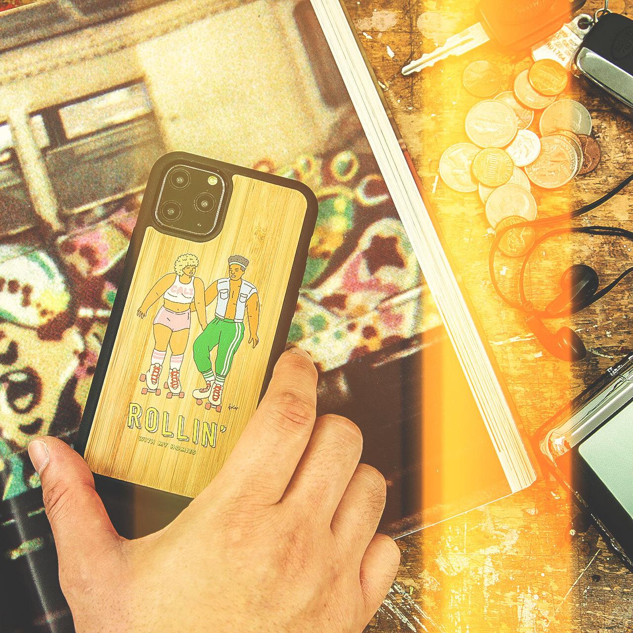 """バンブーiPhoneケース """"ROLLIN'"""" 【各機種対応】"""