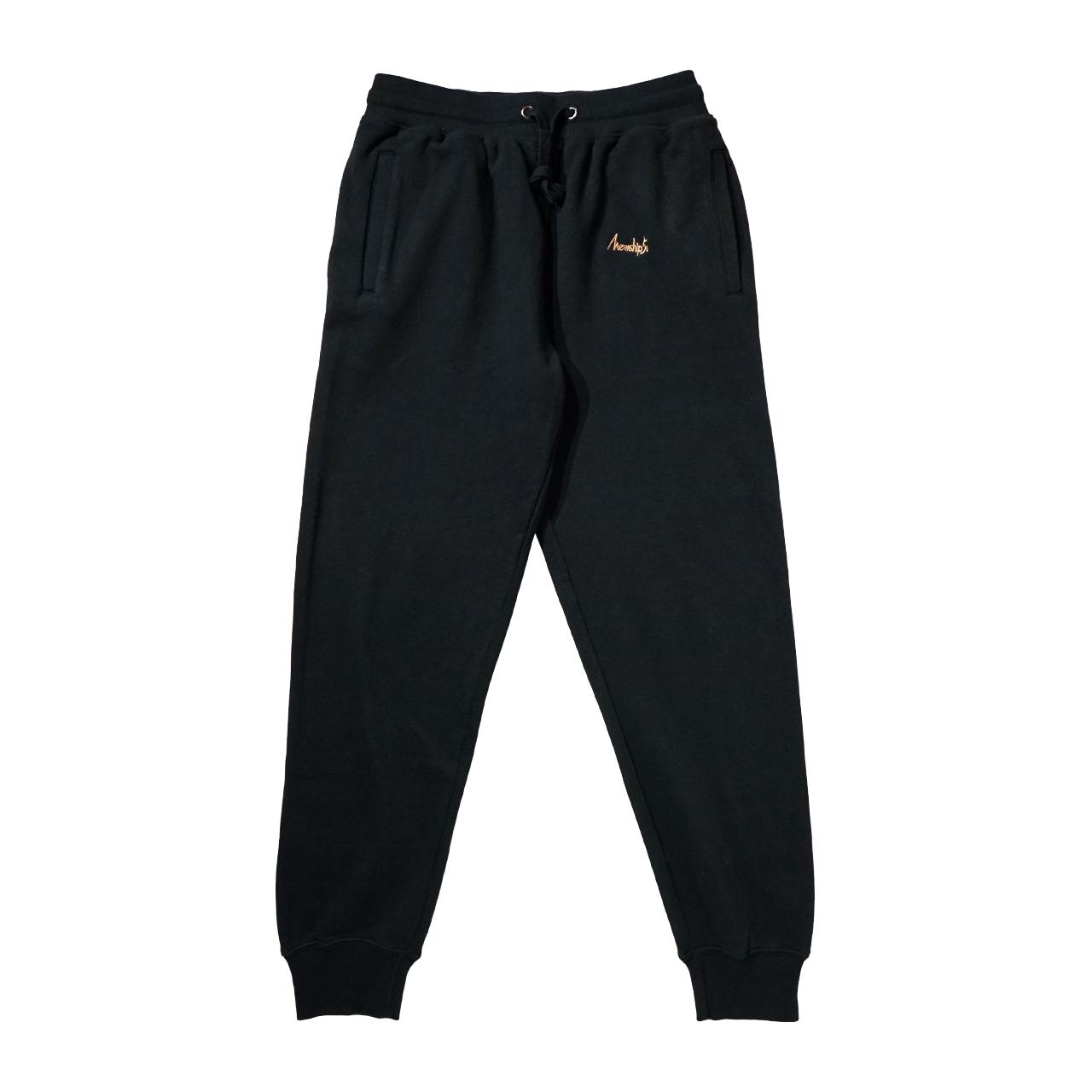 BASIC LOGO 019 light sweat pants <Black×Beige> - 画像1