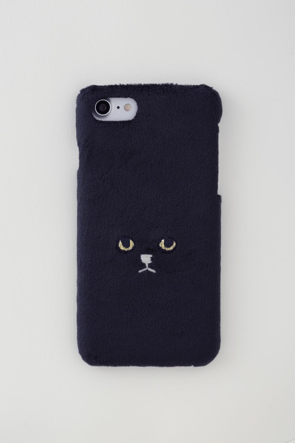 【新生地】ネコiPhone7ケース【ブラック】