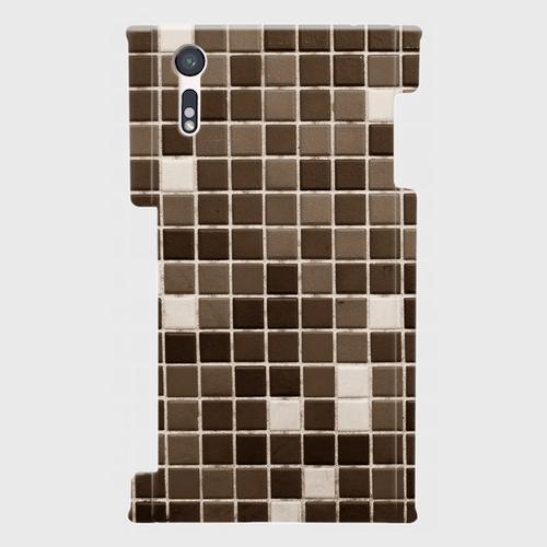 モザイクタイル(黒)/ Androidスマホケース(ハードケース)
