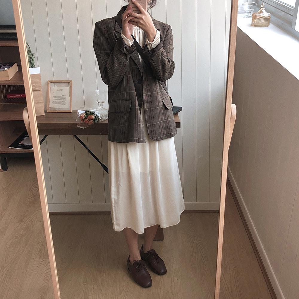 〈カフェシリーズ〉秋のチェック柄セットアップ【autumn check set up】