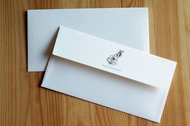 lulu STORE 大人可愛いうさぎさんの封筒