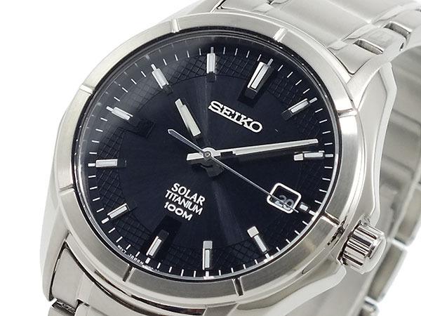 セイコー SEIKO チタン ソーラー 腕時計 SNE141P1  メンズ