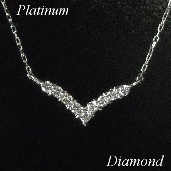ネックレスのv字×ダイヤモンド。大人きれいデザインが新入荷!