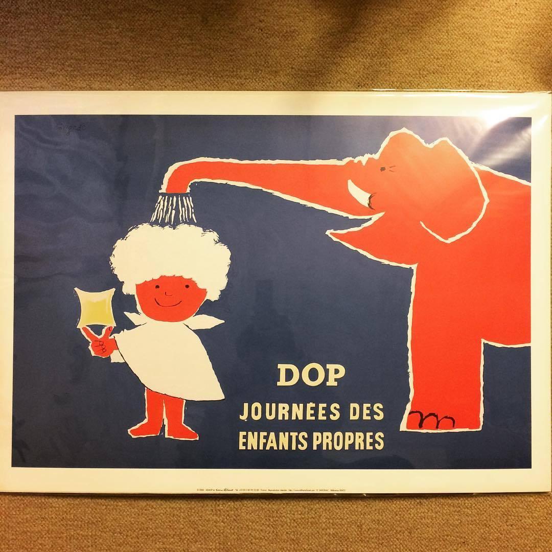 ポスター「レイモン・サヴィニャック Raymond Savignac Dop journees des enfants propres」 - 画像1