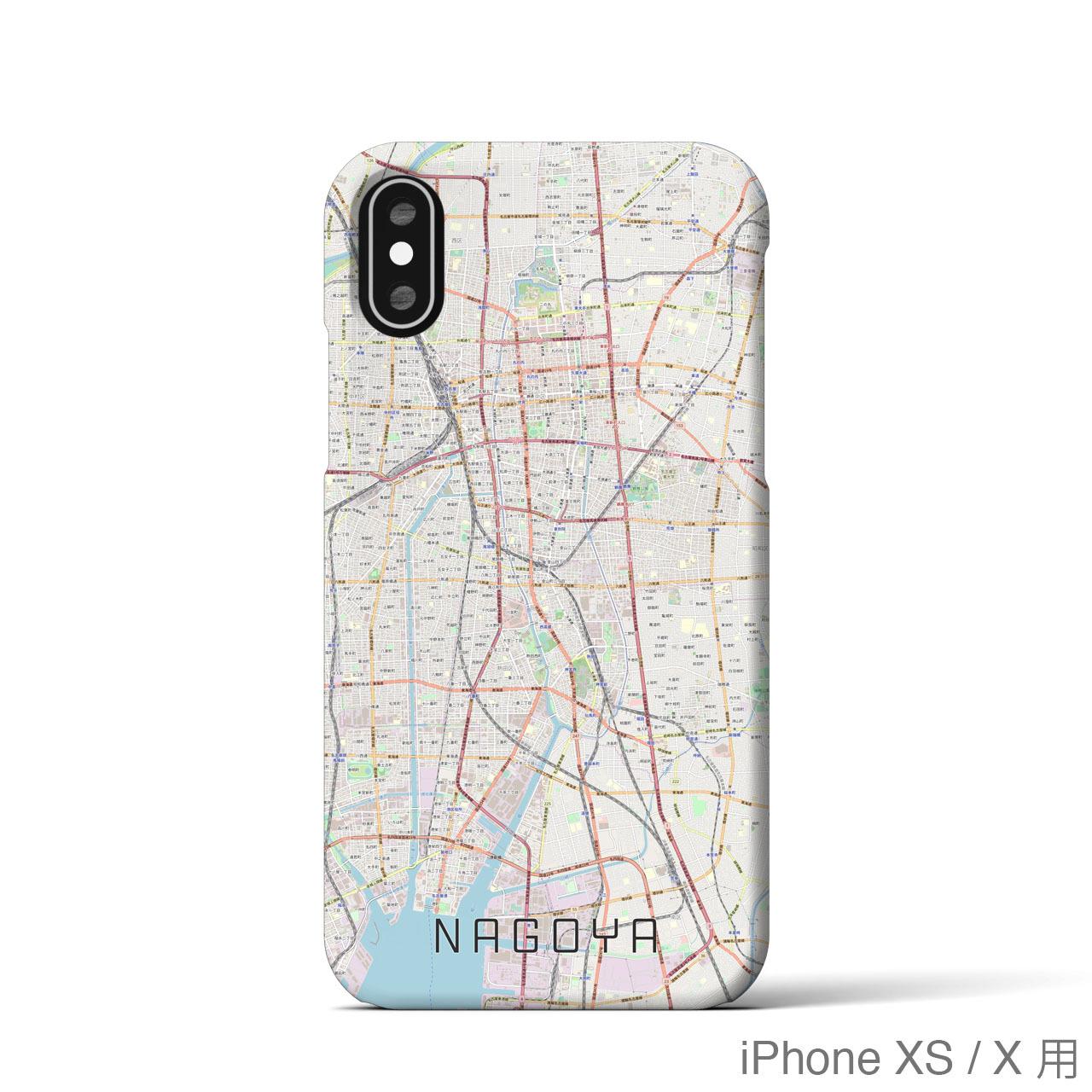 【名古屋】地図柄iPhoneケース(バックカバータイプ・ナチュラル)