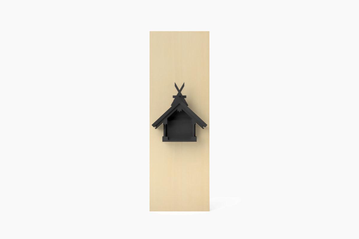 MIYA WALL SUMIYOSHI Black (壁掛神棚 住吉造 マットブラック)