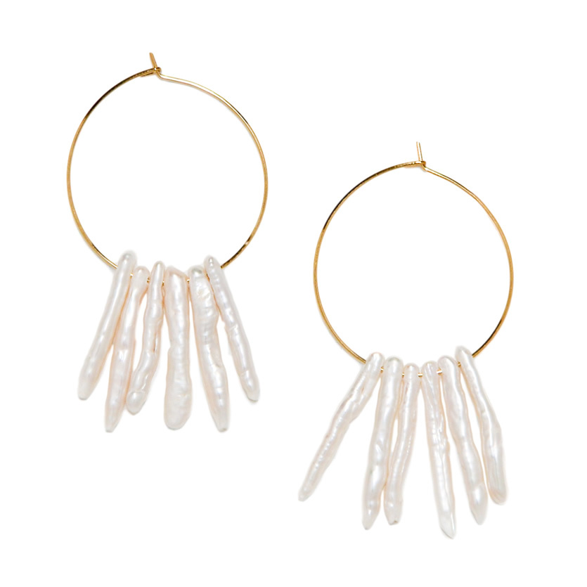 fringe pearl pierce