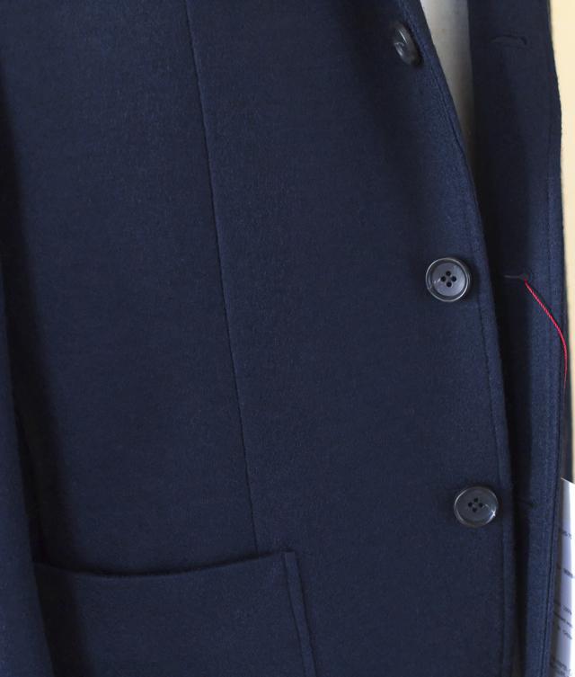 ARBRE アルブル (MEN'S) 圧縮ウール3ボタン段返りジャケット