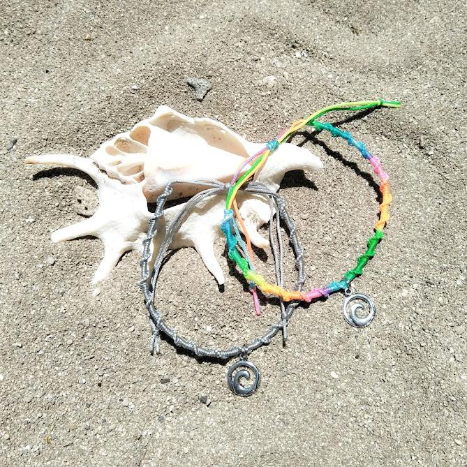 Wave Charm Twist Misanga Anklet