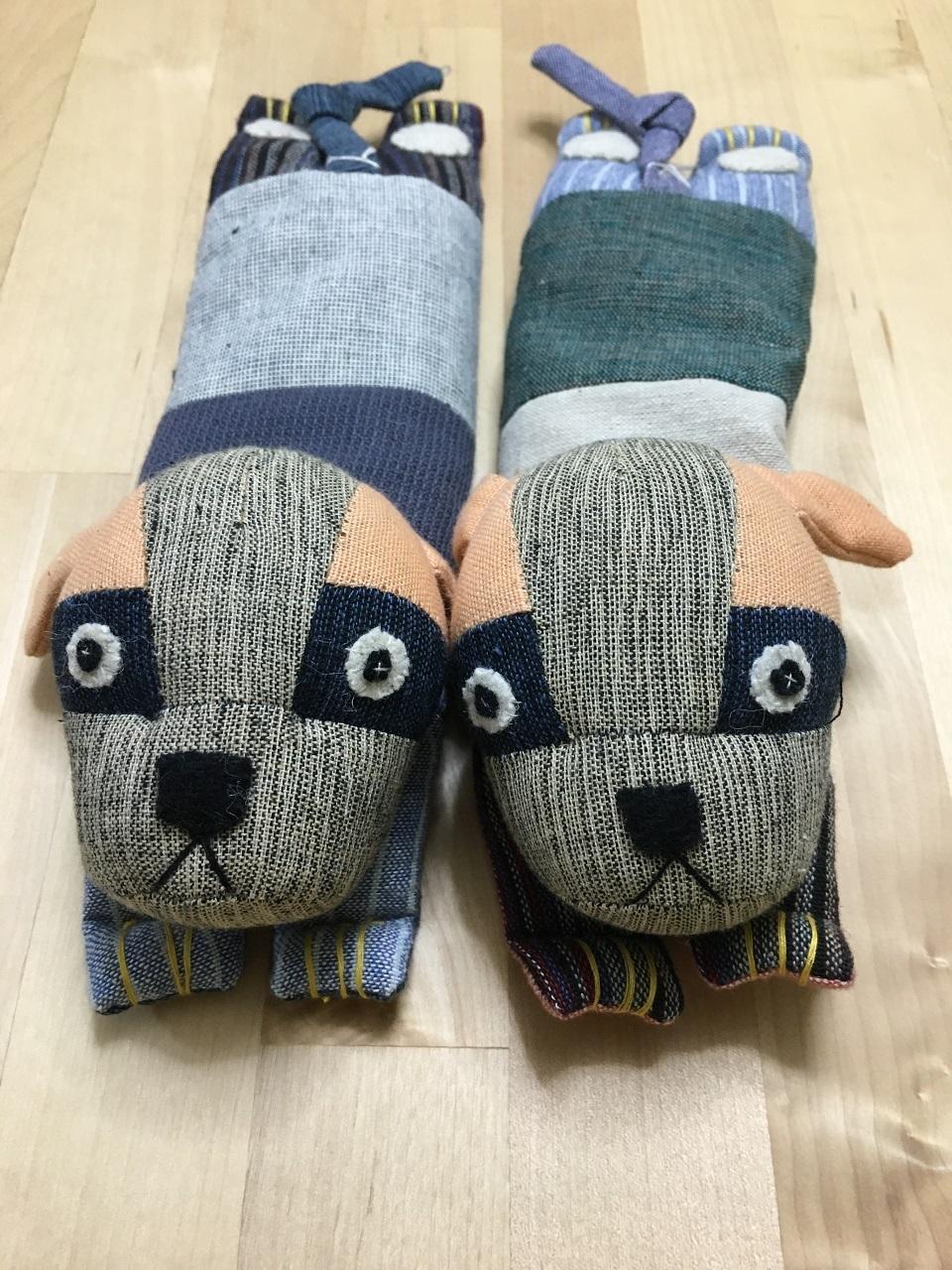 手織り布のアイピロー・ポチ