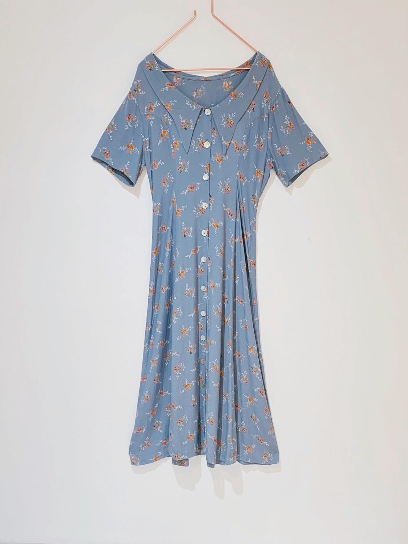 佐川様専用◼︎90s rayon floral dress 40s style  from France◼︎