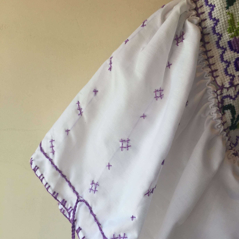 vintage cross-stitch blouse