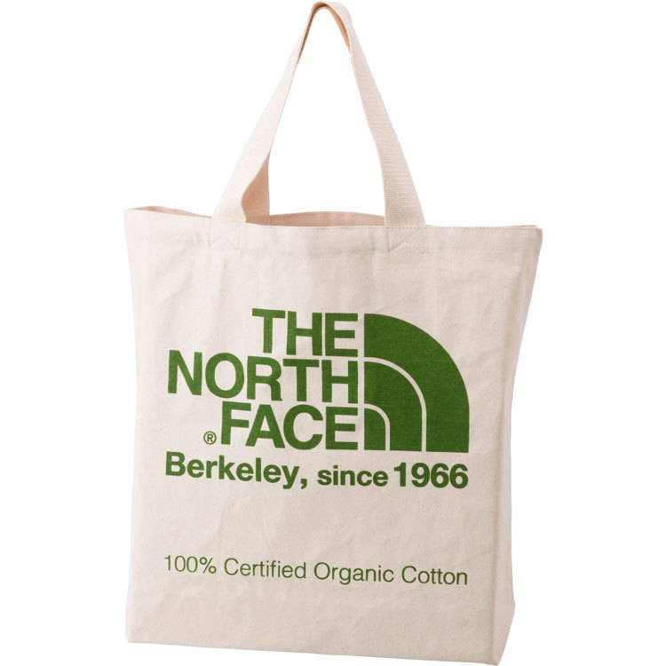 THE NORTH FACE (ザノースフェイス) TNFオーガニックコットントート (FG)ナチュラル×フラッシュライトグリーン
