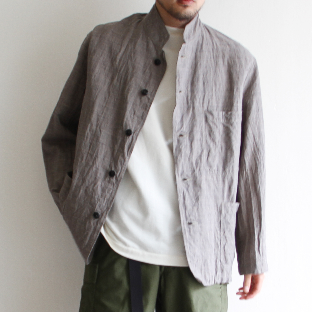 KAPTAIN SUNSHINE【 mens 】gren plaid jacket