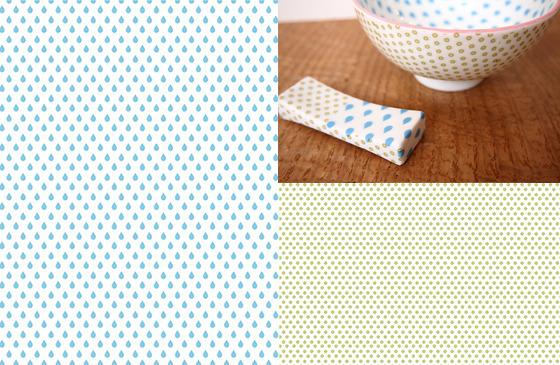 SIZUKU ブルー&グリーン A3(ポーセリンアート転写紙)