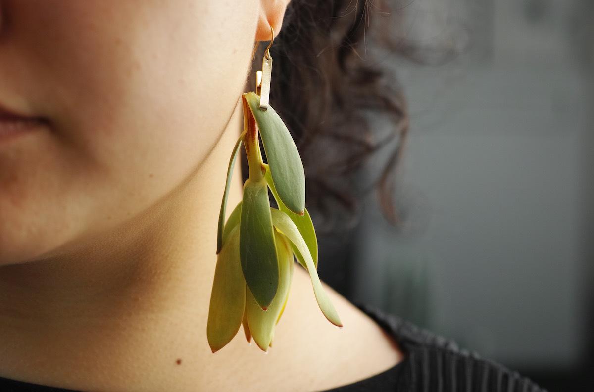 植物を身につけるピアス/pick a jewel [pierced earrings]