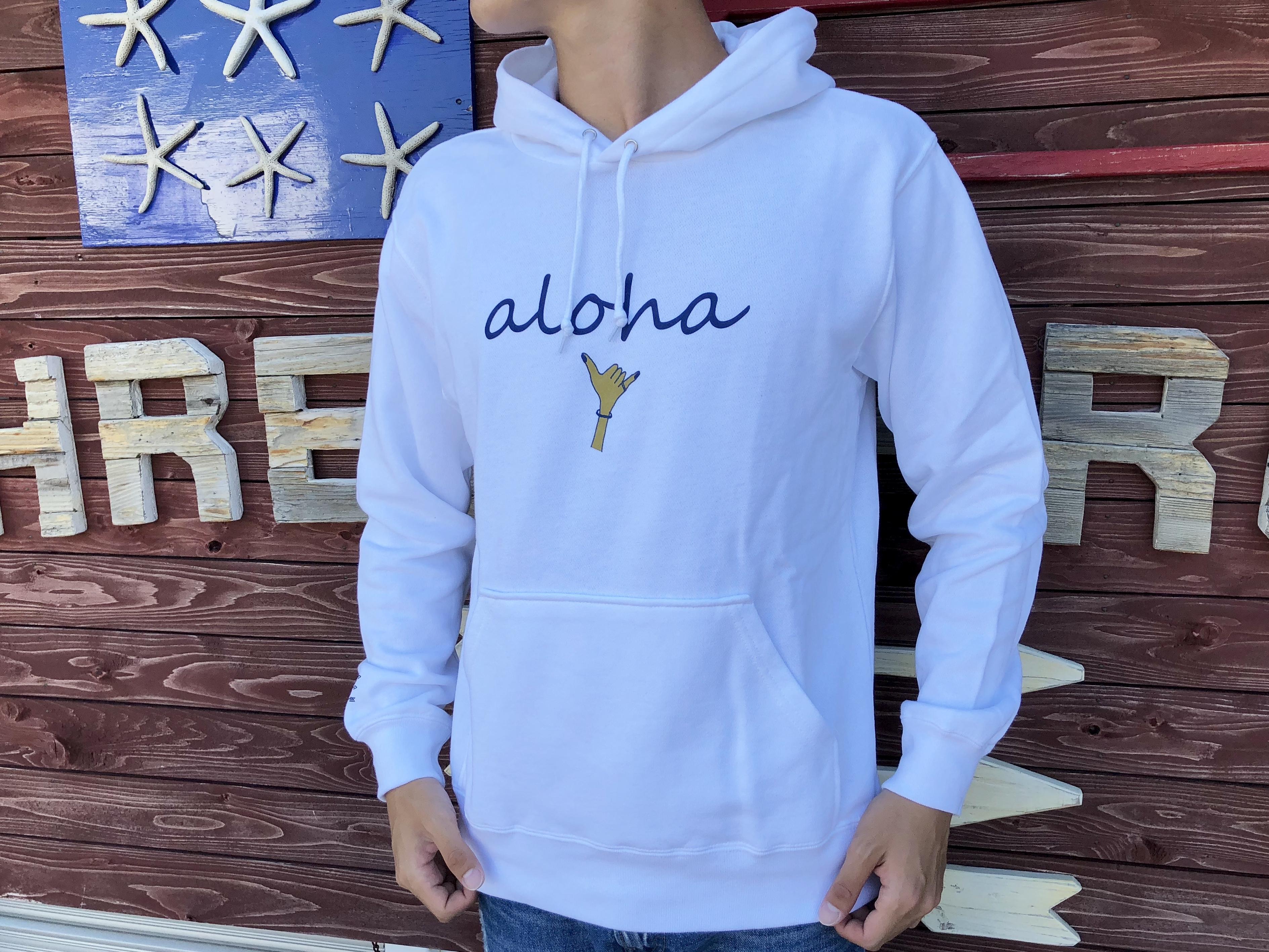 alohaサイン パーカー(日焼けハンド)