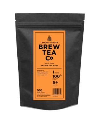 BREW TEA Co. ブリューティーカンパニー tea bag ティーバッグ 100個入り Lemon & Ginger レモンアンドジンジャー