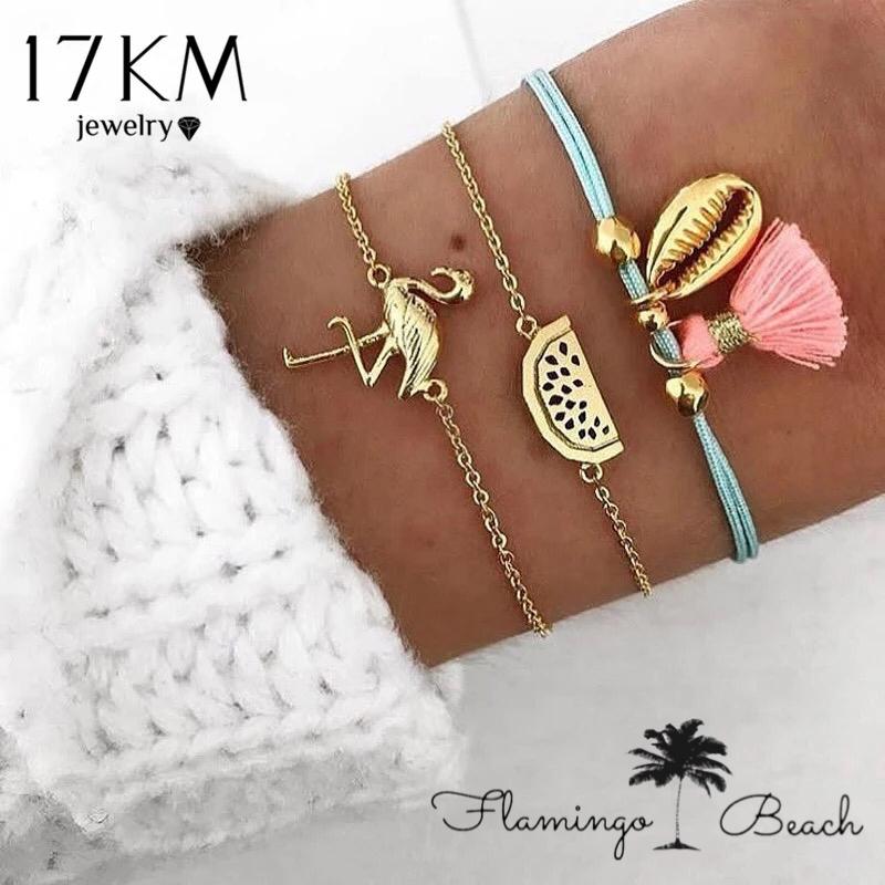 【FlamingoBeach】フラミンゴ ブレスレット セット
