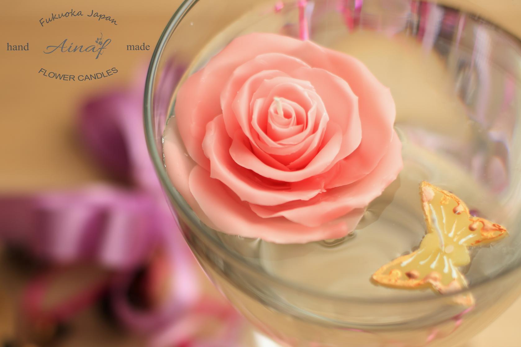 薔薇のフローティングキャンドル
