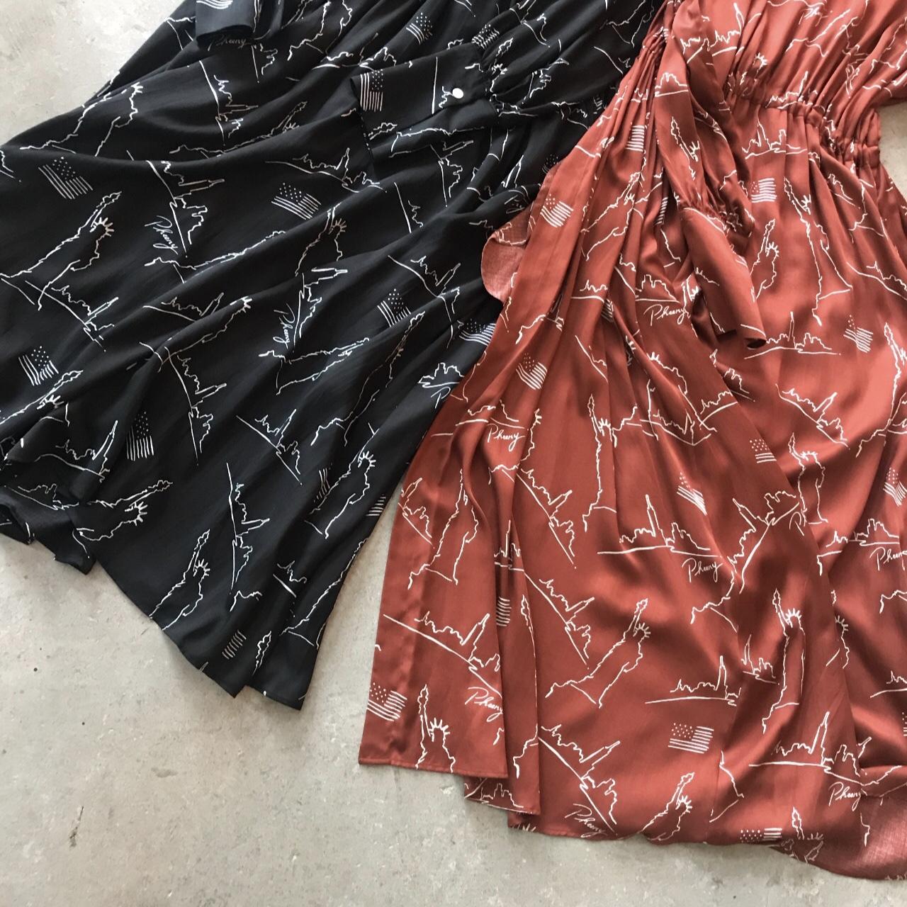 PHEENY - NYC printed back open dress