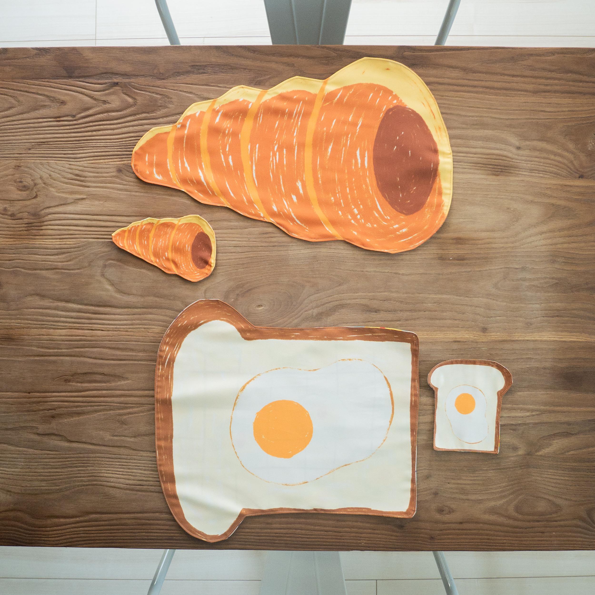 コースター 目玉焼き食パン