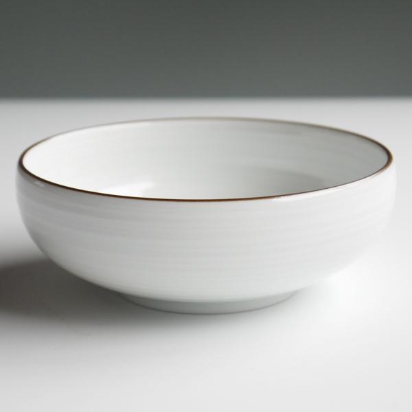 白山陶器 小鉢 白磁千段
