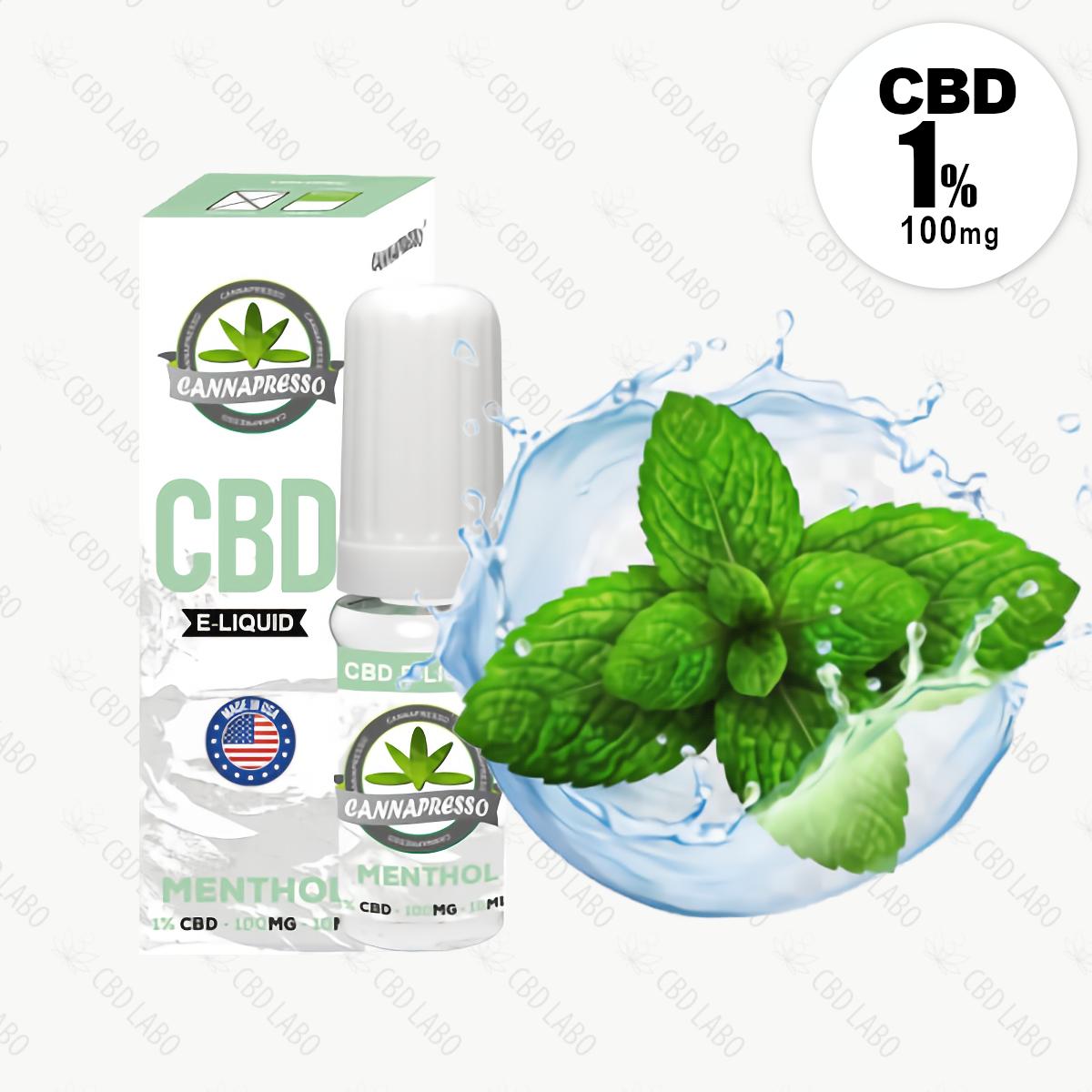 【送料無料】CANNAPRESSO CBDリキッド メンソール 10ml CBD含有量100mg (1%)