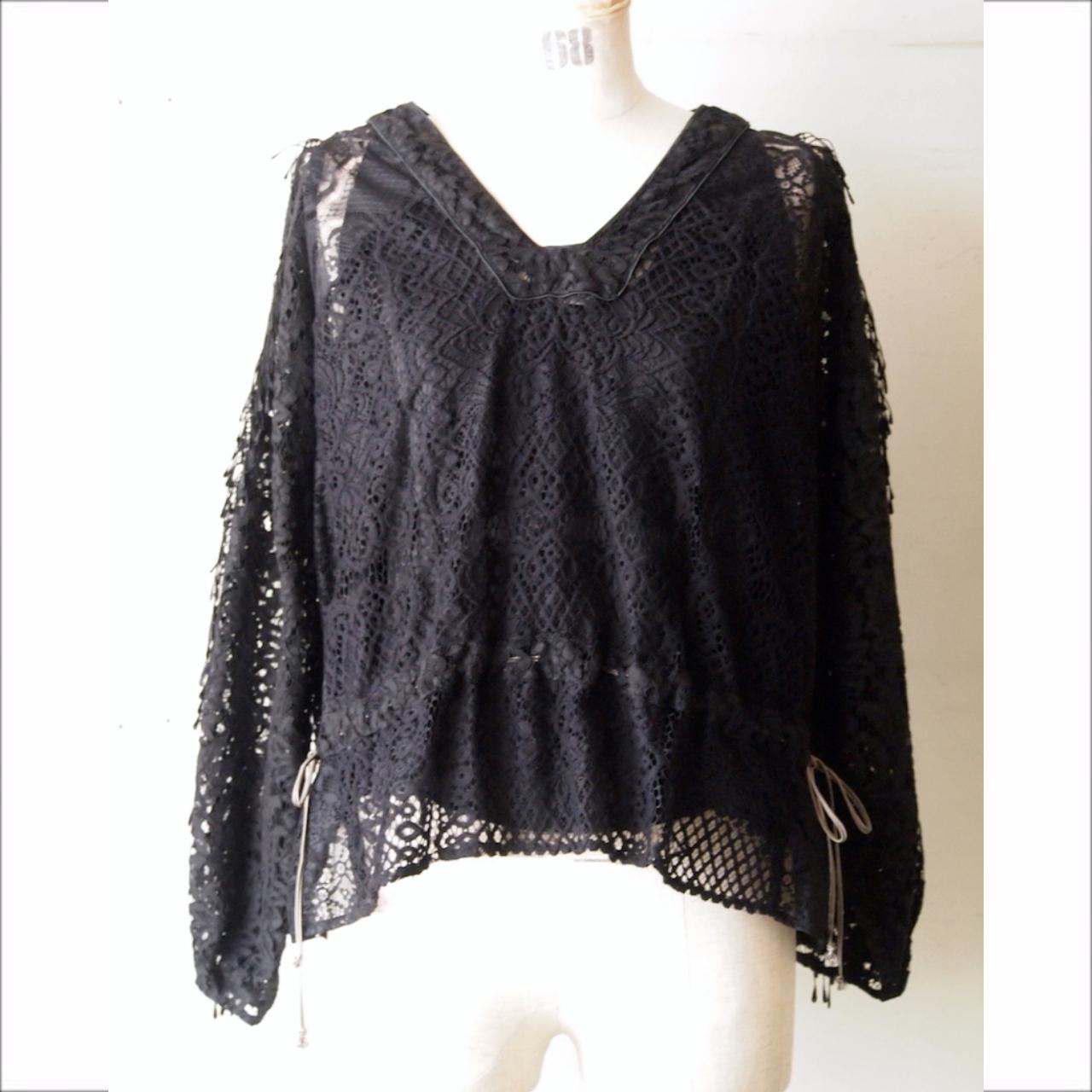 【RehersalL】lace panel blouse / 【リハーズオール】レース パネル ブラウス