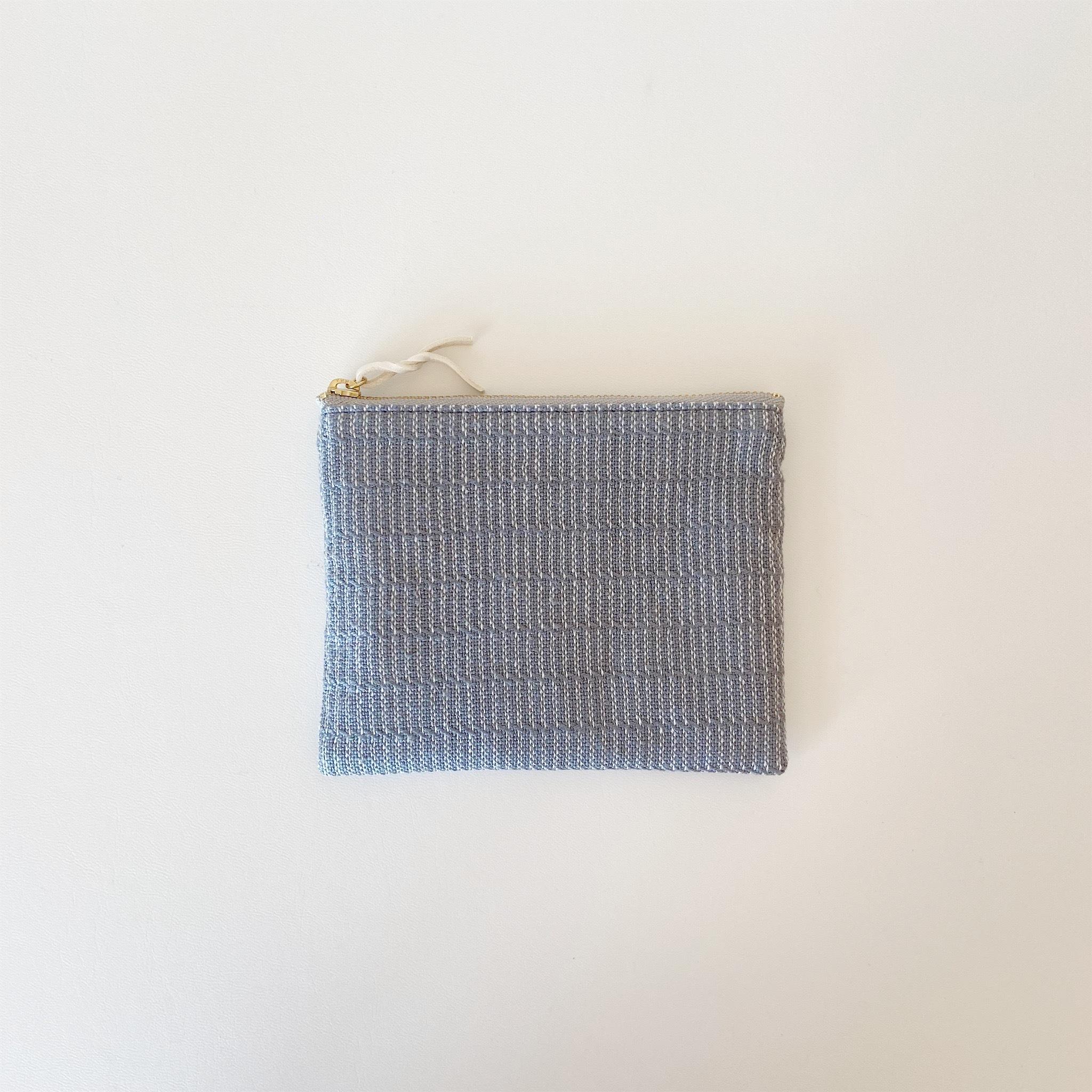 手織りミニポーチ(Accessory case 14cm Gray Alinea)