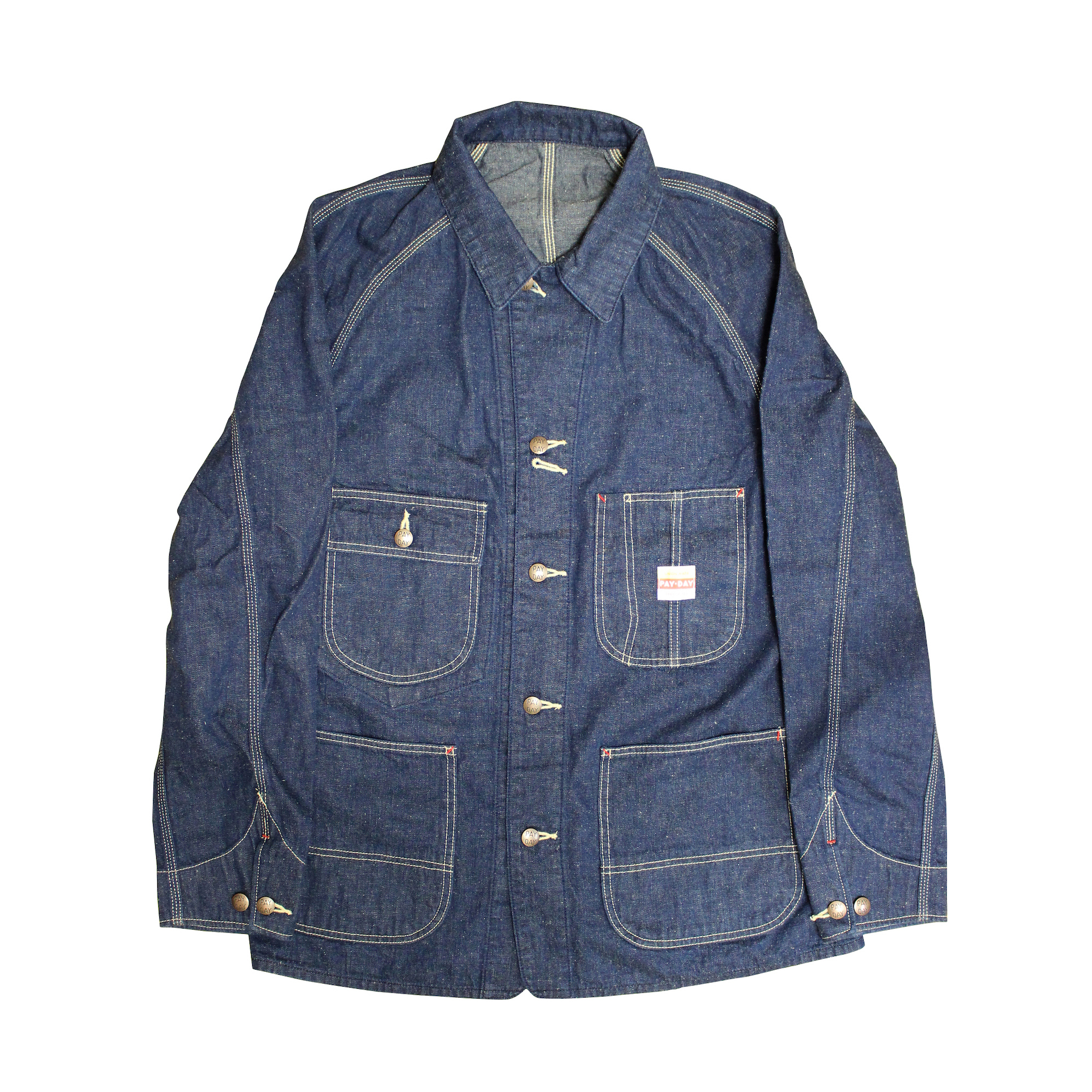OLD TEXTURE COVERALL JACKET(OW.INDIGO)