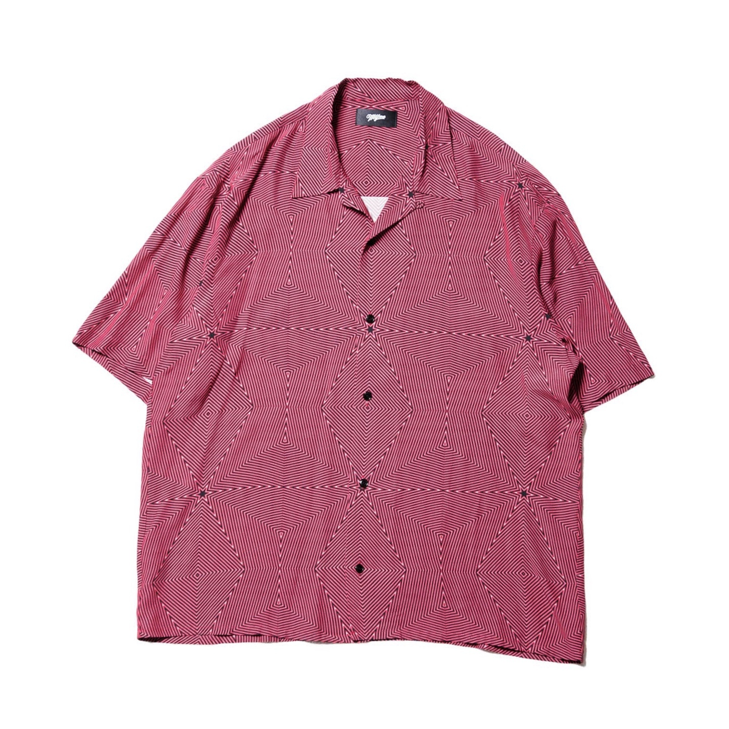 Neon half sleeve shirt / RED - 画像1