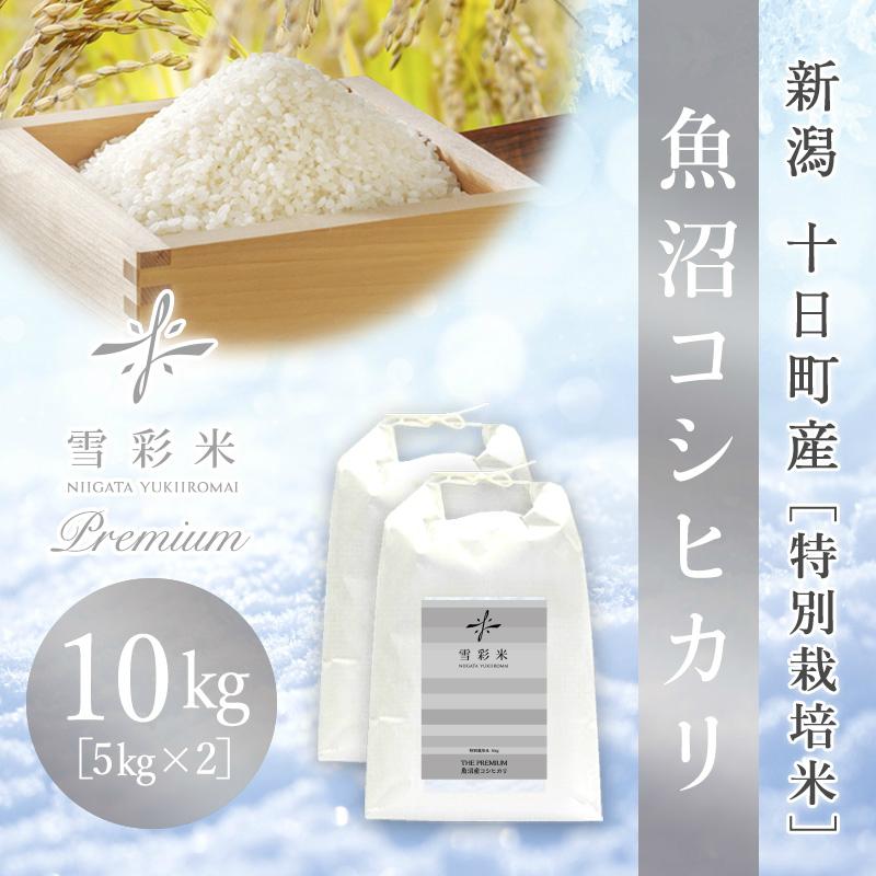 【雪彩米Premium】十日町産 特別栽培米 新米 令和2年産 魚沼コシヒカリ 10kg