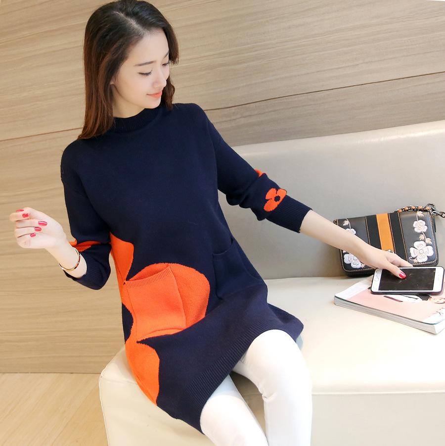 【トップス】合わせやすいプリント韓国風ニットセーター