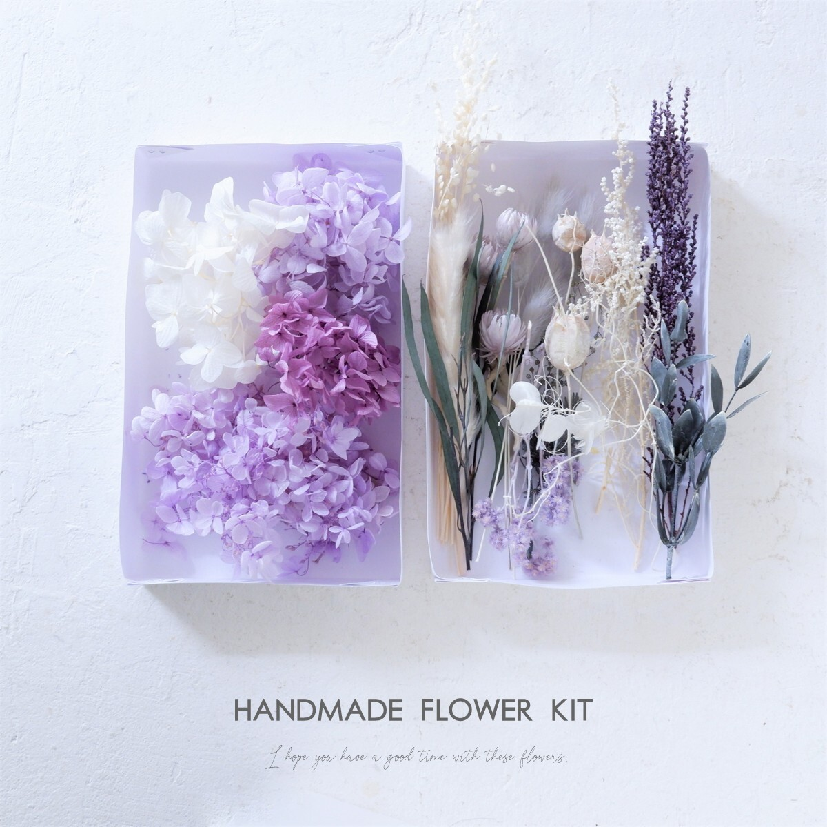 【 Handmade Flower kit・Sサイズ 】プリザーブドフラワー・ドライフラワーの手作りキット