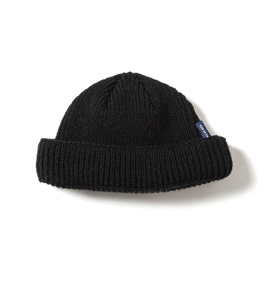【SON OF THE CHEESE】WOOL BEANIE short(BLACK)