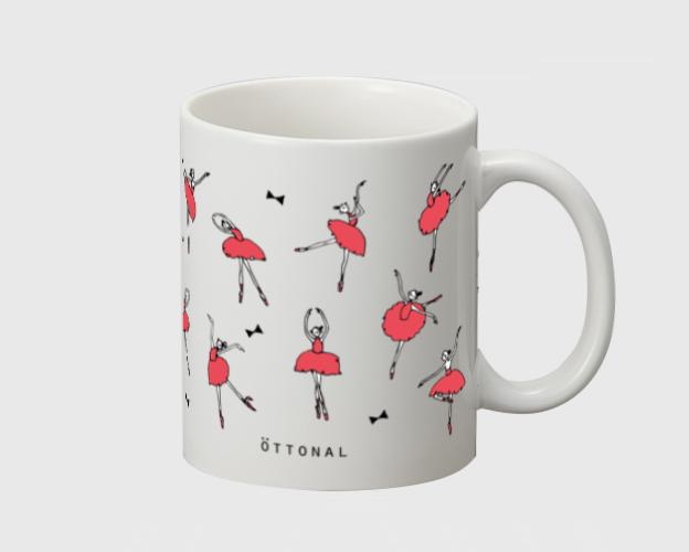 バレリーナ(赤) マグカップ - 画像2