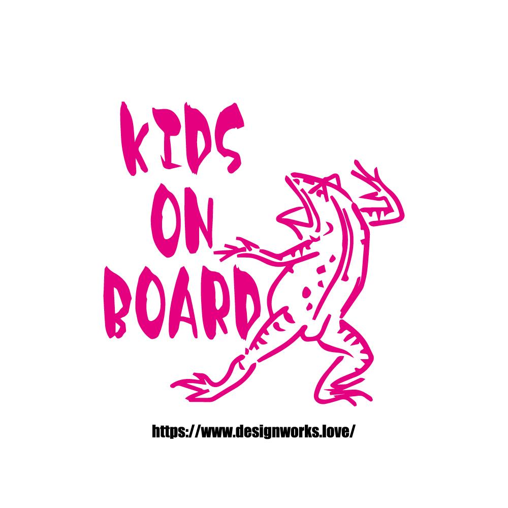 全10色 KIDS ON BOARD 鳥獣戯画 かえる ステッカー