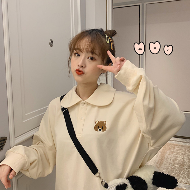 【tops】キュート刺繍プルオーバーTシャツ22711375