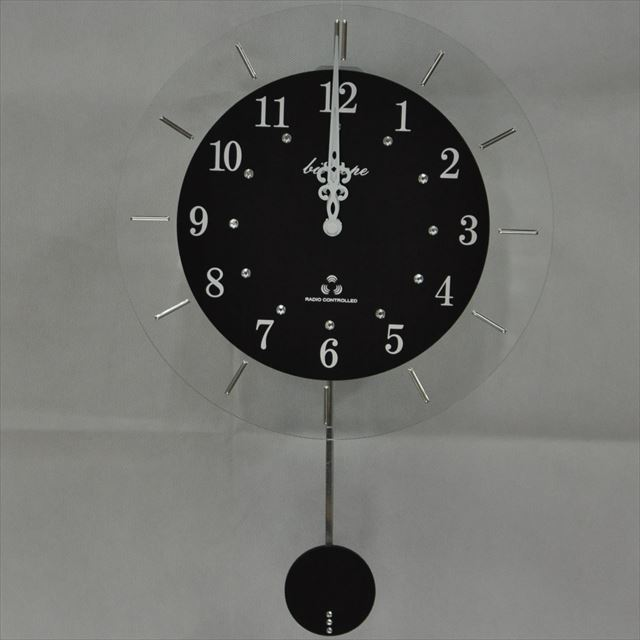 振り子時計 電波時計 電波スロー振り子時計 BIO-001 板尾工芸オリジナル - 画像1